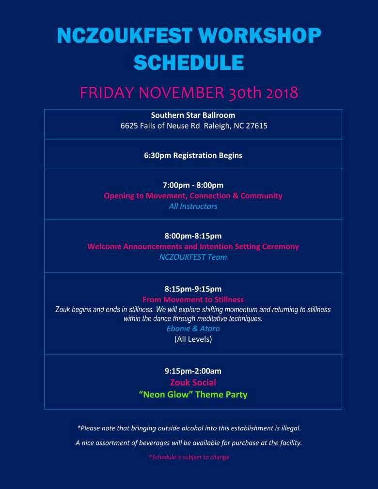 NCZF Schedule 2018 Friday-1